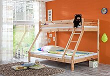 Etagenbett 3 Schlafplätze Kiefer massiv lackier