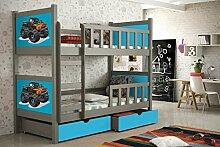 Etagenbett aus Kieferholz 200 x 88 x 160 cm