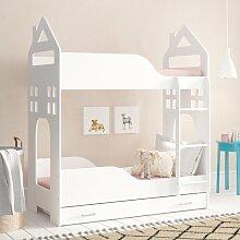 Etagenbett Bino mit Matratze und Schublade