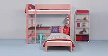 Etagenbett Color, 140x200 cm, pink