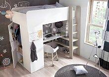 Etagenbett ERWIN mit Matratze und Schrank