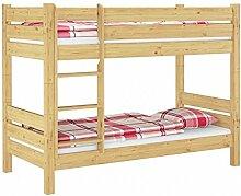 Etagenbett extra stabil Massivholz 80x200 Stockbett Nische 80 teilbar Rollroste 60.16-08 T80