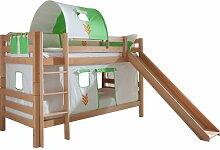 Etagenbett Faircloth mit Vorhang, Tunnel und