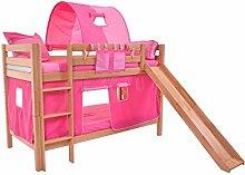 Etagenbett Kinder 90x200 Rutsche Spielbett Stockbett Hochbett Doppelstockbett Kinderzimmer Kinderbett Jugendbett Bilira
