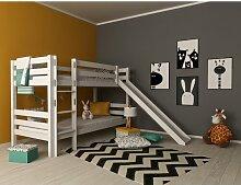 Etagenbett Mark mit Rutsche Just Kids Farbe: Weiß