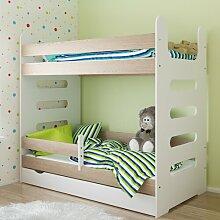 Etagenbett Mati mit Matratze und Schublade