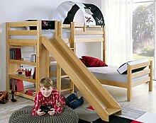 Etagenbett mit Rutsche BENI L Kinderbett Spielbett