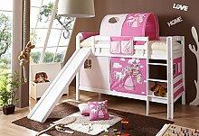 Etagenbett mit Rutsche Doppelbett Lupo Buche