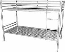 Etagenbett Rita mit Stahlgitterrahmen, 90 x 200 cm