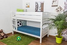 Etagenbett / Spielbett Rene Buche massiv weiß