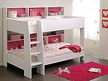 Etagenbett Tamina 1 weiß 209x165x132cm pink blau Bett Hochbett Stockbett Bett für Mädchen und Jungen