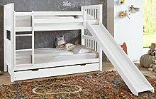 Etagenbett Wicky 20485 Hochbett Stockbett mit Rutsche Weiß