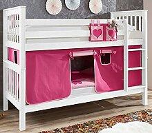 Etagenbett Wicky 20503 Hochbett Stockbett Stoffset Pink/Rosa