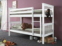 Etagenbett WICKY Kinderbett Spielbett Hochbett Bett Weiß