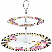 Etagere 2-stöckig Flowers Glamour Collection von