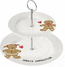 Etagere 2 stöckig Porzellan Cookie Connection von
