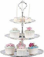 Etagere 3 Etagen Kuchen Cupcake Ständer Metall