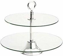 Etagere Glas rund 2-fach 33x33cm