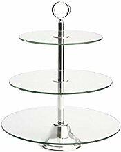 Etagere Glas rund 3-fach 33/27,5/20x42,5cm