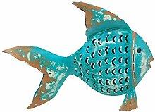 ETC dekorative ausgefallene Metallfigur als Fisch
