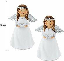 etc-shop 2er Set Engel Stand Figur X-Mas Advent