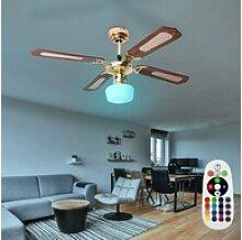etc-shop Deckenventilator, Smart Home RGB LED