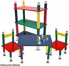 etc-shop Kinder Möbel Set Tisch Gruppe Stühle