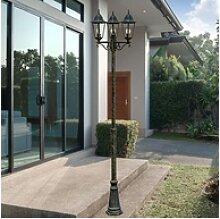 etc-shop LED Außen-Stehlampe, LED ALU Steh