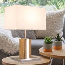 etc-shop Stehlampe, LED Decken Fluter Holz Steh