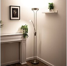 etc-shop Stehlampe, LED Decken Fluter Lampe Büro