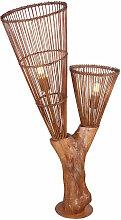 Etc-shop - Stehleuchte Holz Bambus Stehlampe im
