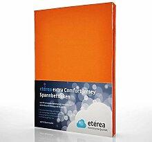 etérea Extra Jersey Topper Baumwolle Spannbettlaken Spannbetttuch Farbe Orange, in der Größe 90x200 - 100x220 cm