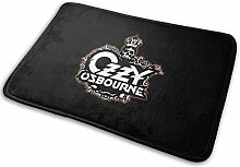ETGBFHRDH Fußmatte Ozzy Osbourne Rock Logo