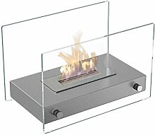 Ethanolkamin Roma Mini Tischkamin & Standkamin mit sicherem Brennsystem, TÜV geprüft, Farbe: Granitoptik