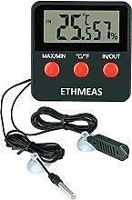 ETHMEAS Digitales Thermometer und Hygrometer für
