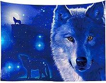 Ethnisch Wolf Traumfänger Fantasie Wandteppiche