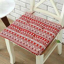 Ethnische Stil Weiche Baumwolle Deko Stuhl Pads Sitzkissen zum Festbinden für Home Küche Stuhl Büro Auto Quadratisch 40x 40cm ro