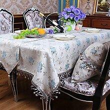 Ethomes Landhausstil Chenille Ess-und Tee-Tischdecke Mit Handgefertigten Multi-Bobbles Runde Squre Rechteck Beige