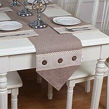 Ethomes Moderne Baumwolle Leinen Tischläufer mit