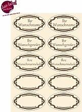Etiketten für Gewürze, Marmeladen, Haushaltsetiketten, Gewürzetiketten (natur/braun, 50)