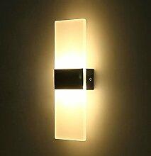 ETiME 12W LED Acryl Wandleuchte warmweiß