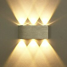 ETiME 18W LED Wandleuchte Wandlampe warmweiß