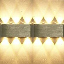 ETiME 2er 6W LED Wandleuchte Innen Modern Up Down