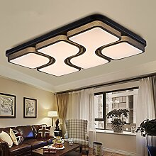 ETiME 45W 64x43CM Design LED Deckenlampe Warmweiß