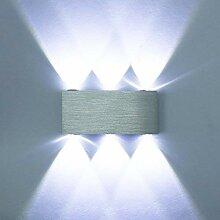 ETiME 6W LED Wandleuchte Kaltweiß Wandlampe