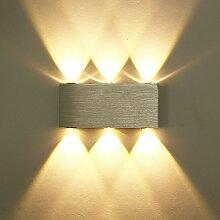 ETiME 6W LED Wandleuchte Warmweiß Up Down Modern