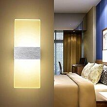 ETiME Acryl Wandleuchte LED 6W Wandlampe Warmweiß