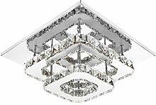 ETiME Deckenleuchte Kristall Deckenlampe LED