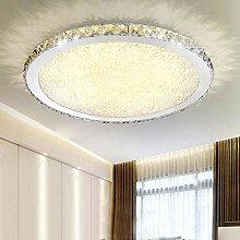 ETiME Deckenleuchte Kristall LED Deckenlampe Rund