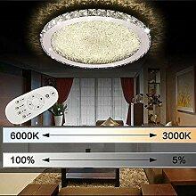 ETiME Kristall Deckenleuchte Dimmbar LED 24W
